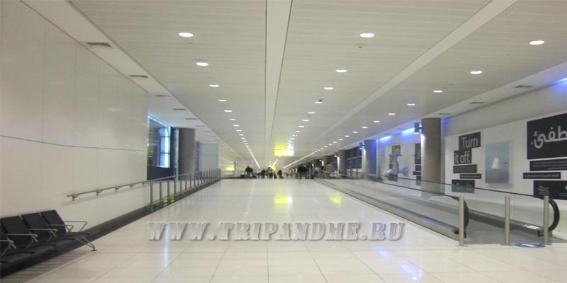 Аэропорт Абу-даби. переход в транзитную зону
