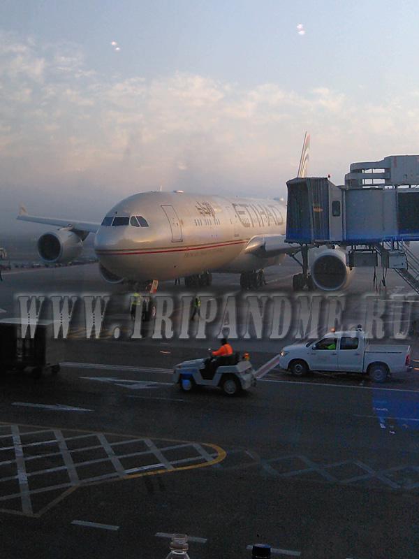 самолет Этихад в аэропорту Абу-Даби