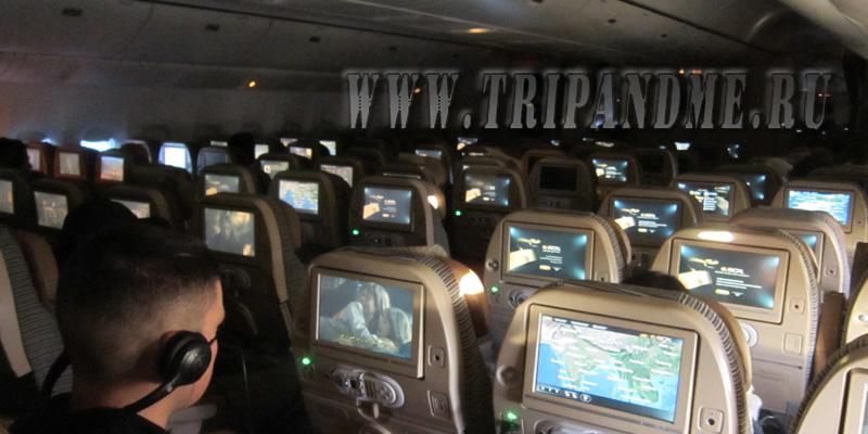 Этихад E-box медиасистема в самолете