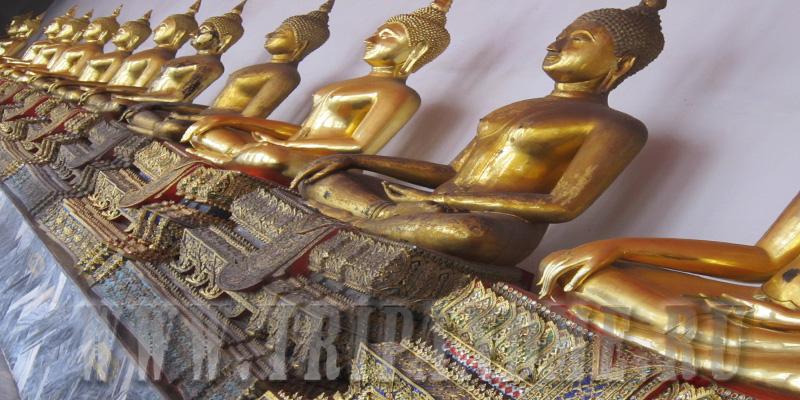 Статуи Будды в Ват Пхо