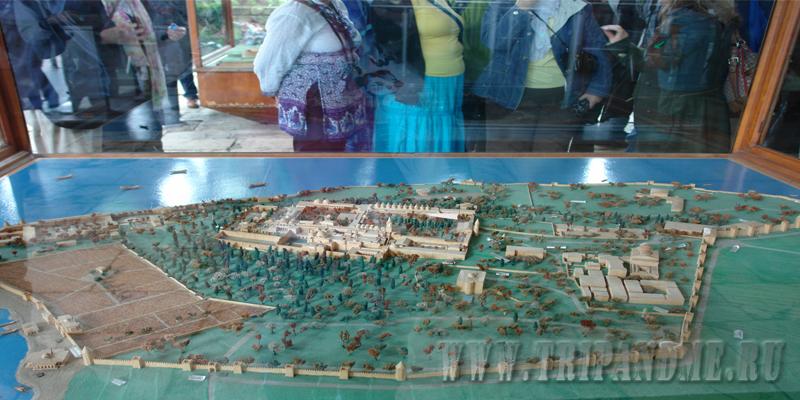 Уменьшенный в тысячу раз дворец Топкапы