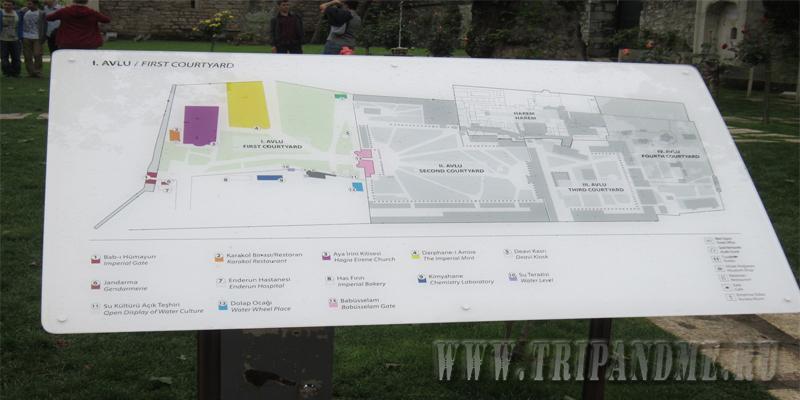 План музея Топкапы
