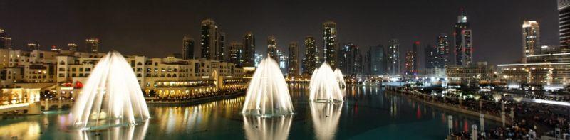 музыкальный фонтан в Дубае видео