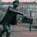 Необычные памятники Будапешта – продавец газет