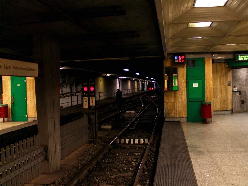 Пути линии M1 метро Будапешта