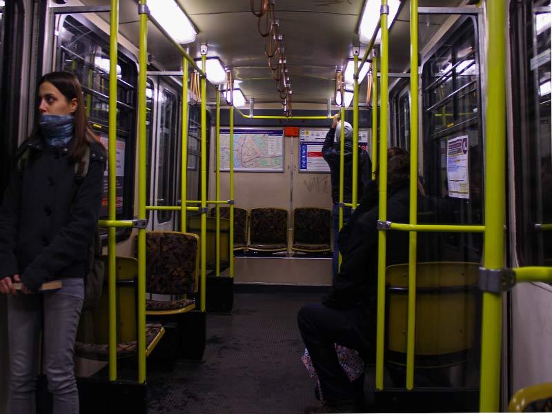 Вагон поезда линии M1 метро Будапешта