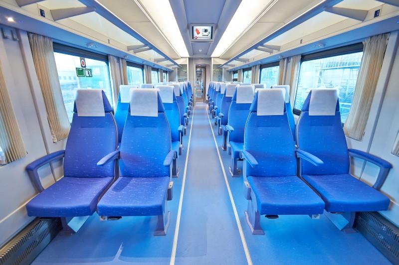 Сиденья в скоростном поезде Стриж