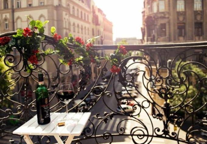 Апартаменты с балконом в Будапеште