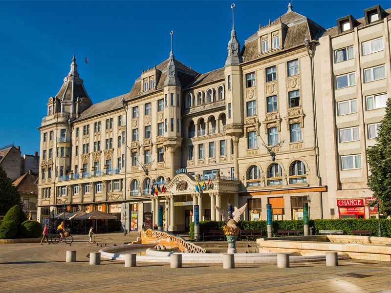 Самая старшая из всех гостиниц Дебрецена - гостиница «Золотой бык»