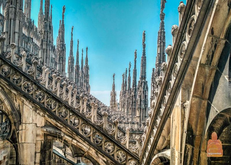 Как взобраться на крышу собора Дуомо в Милане
