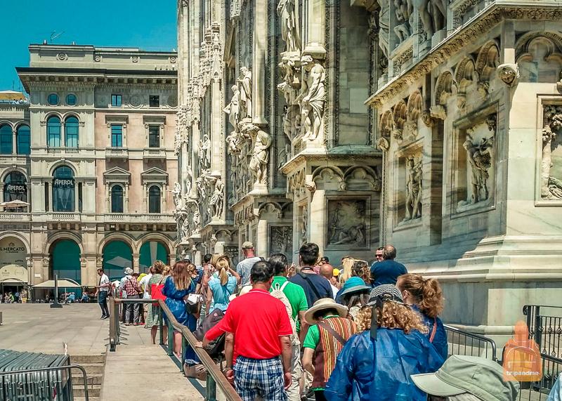 Как попасть внутрь собора Дуомо в Милане