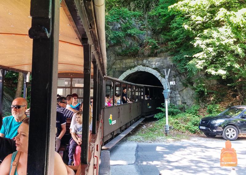 На пути поезда несколько туннелей