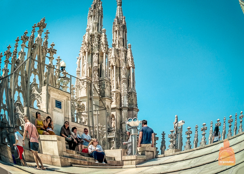 Откуда наблюдать за красотой на соборе Дуомо в Италии