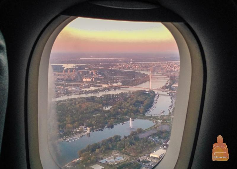 Вид на Белград из самолета