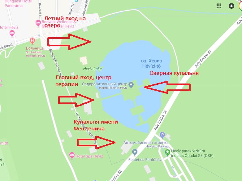 Схема озерной купальни
