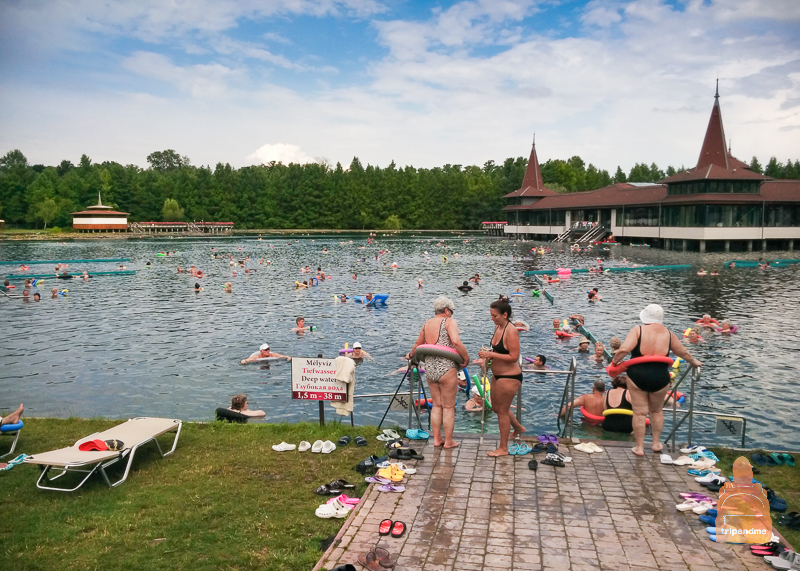 Озерная купальня летом
