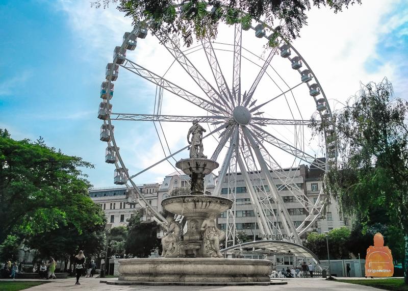 Колесо обозрения стоит на площади Елизаветы