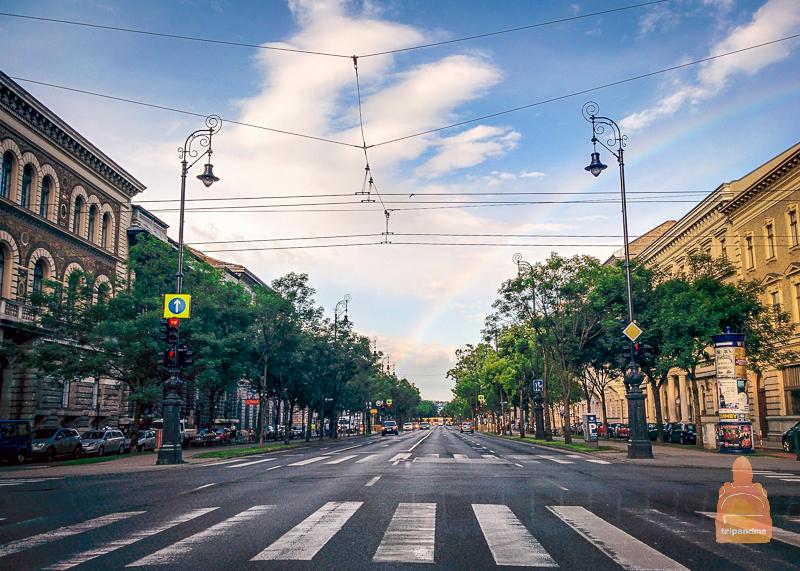 Один из главных проспектов Будапешта