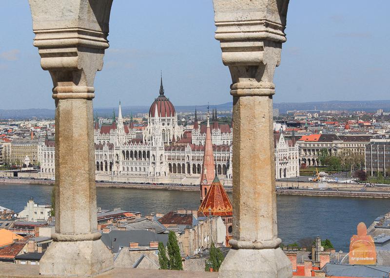 Вид на венгерский парламент
