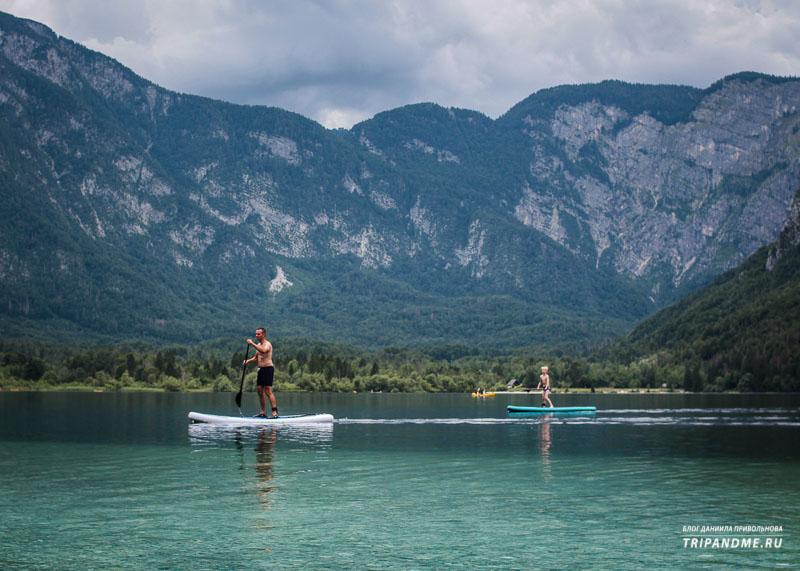 Чем заняться на Бохиньском озере в Словении
