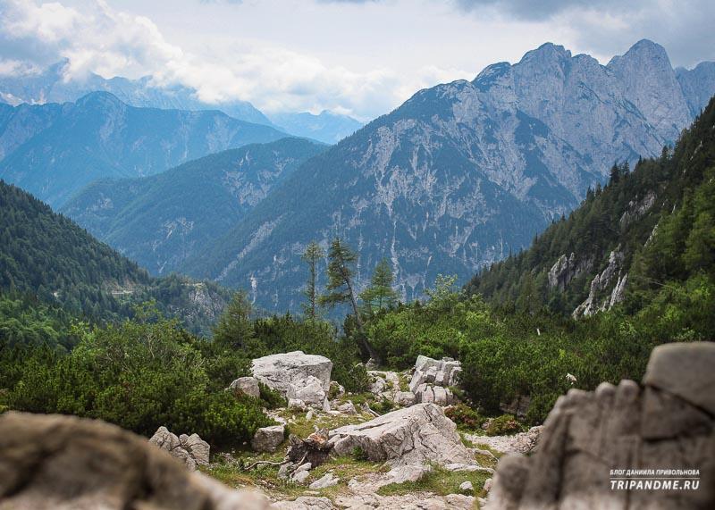С перевала Вршич открываются чудесные виды