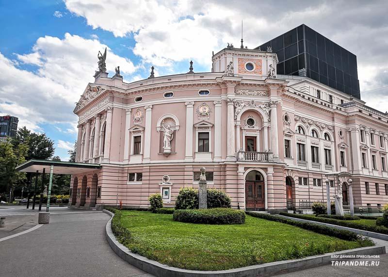 Один из главных видов искусства столицы Словении