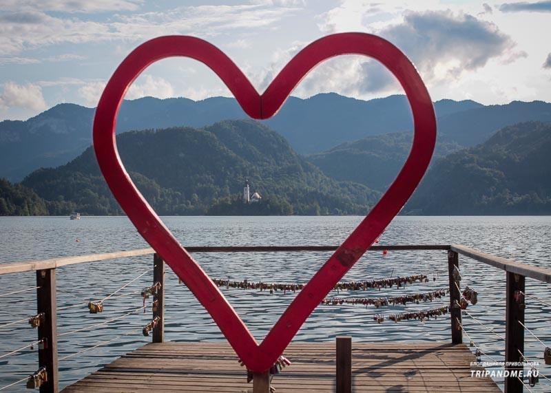 Где побывать влюбленным в Словении