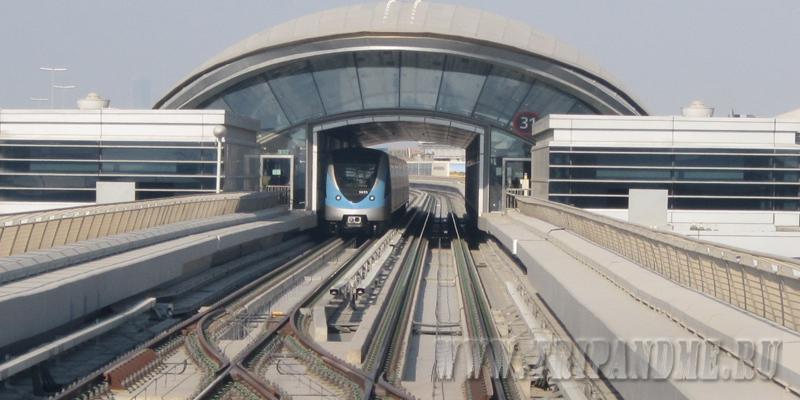 Карта метро Дубая на русском языке