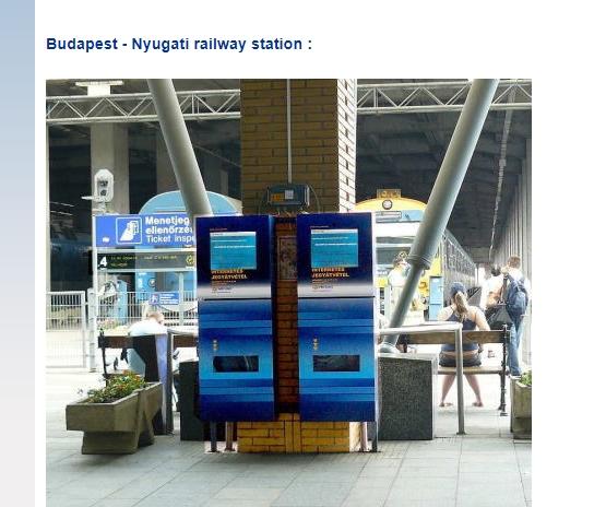 Автомат для распечатки билета на поезд в Братиславу