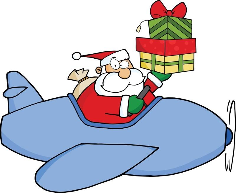 Картинки дед мороз на самолете для детей, февраля