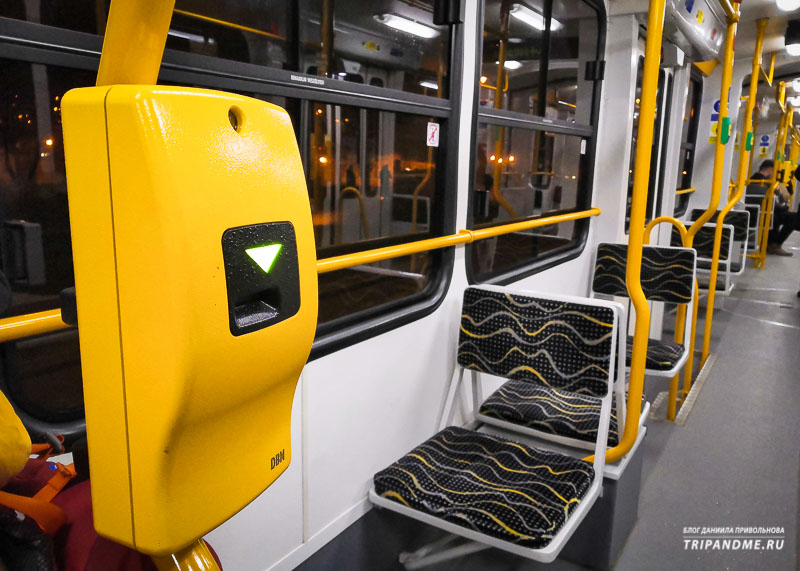 Компостер в трамвае в Будапеште
