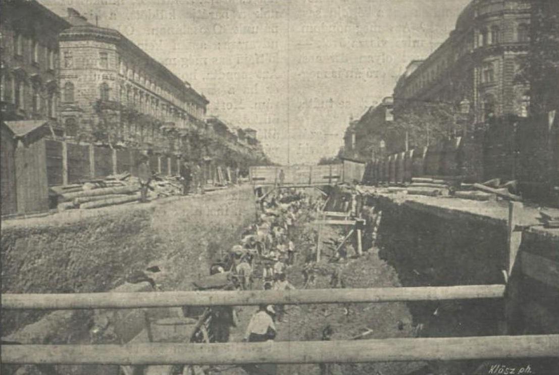 Строительство метро на проспекте Андраши