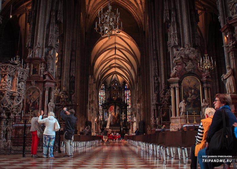 Собор святого Стефана в Вене внутри
