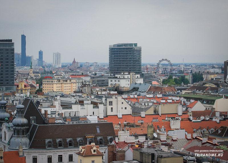 Вид со смотровой площадки собора святого Стефана в Вене