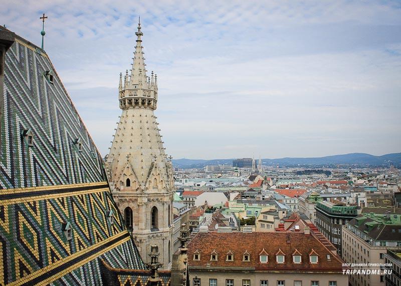 В соборе святого Стефана в Вене две смотровые площадки