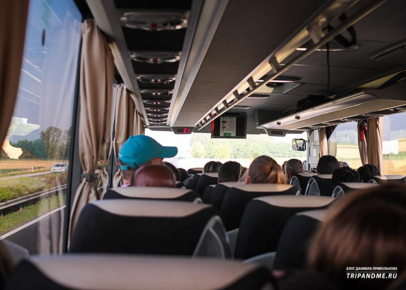 Салон автобуса FlixBus