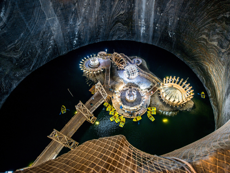 Фото соляной шахты Салина Турда
