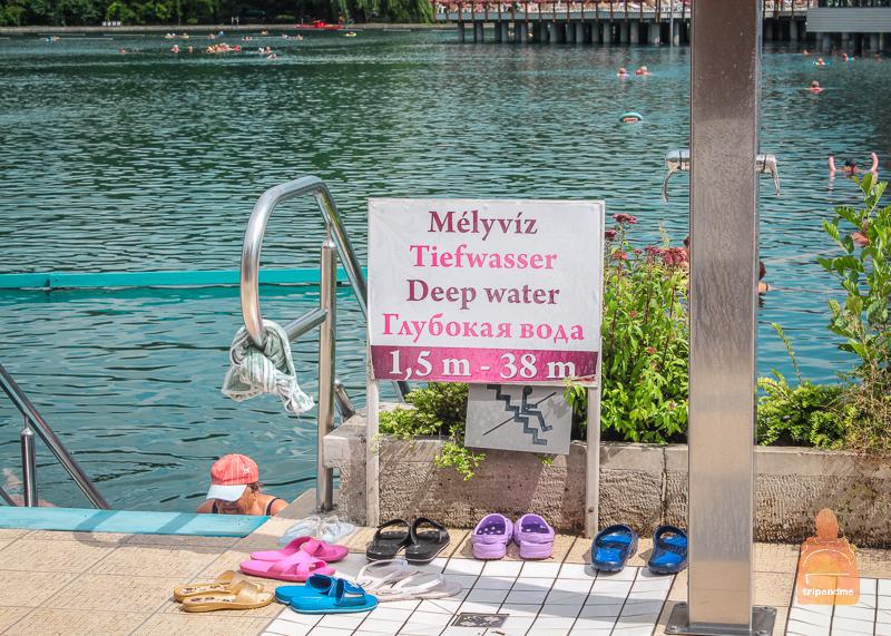 Глубина озера достигает 38 метра