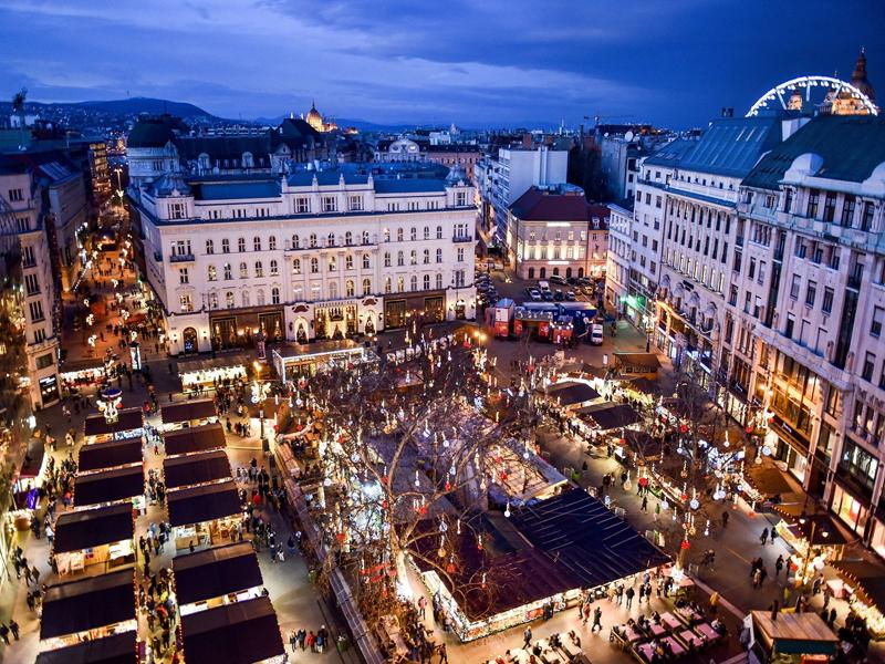 Площадь Верешмарти - вид сверху
