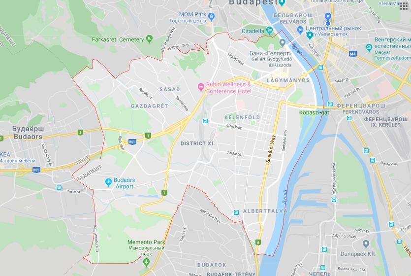 11-й район также очень большой, но искать жилье лучше у холма Геллерт