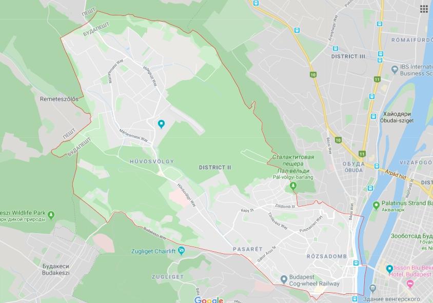 Второй район Будапешта очень большой