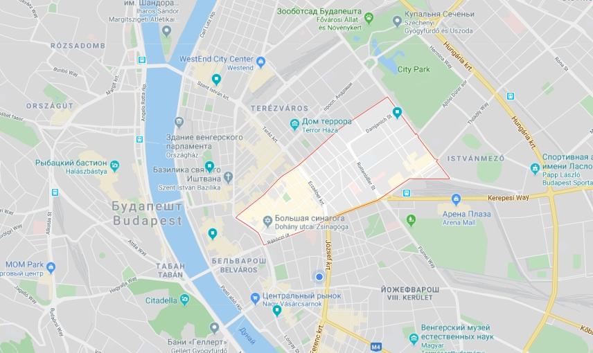 Седьмой район один из самых тусовых Будапешта