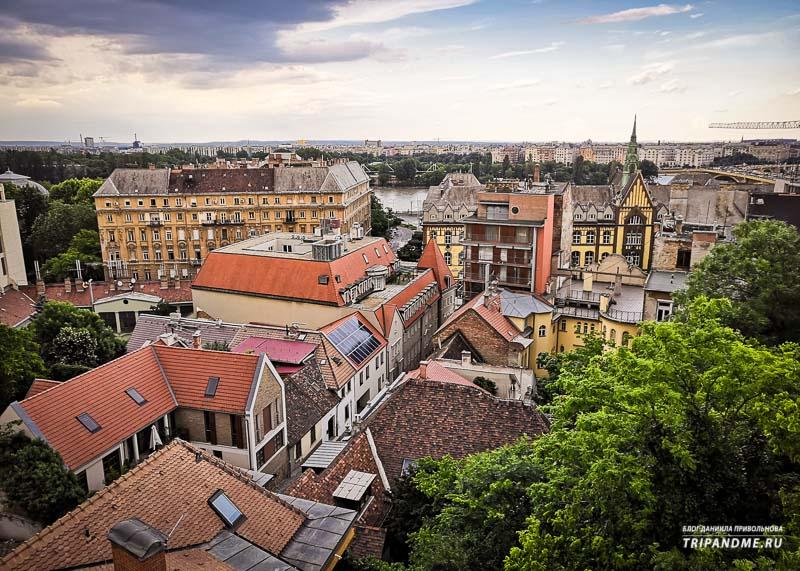 Улицы Будапешта в Венгрии