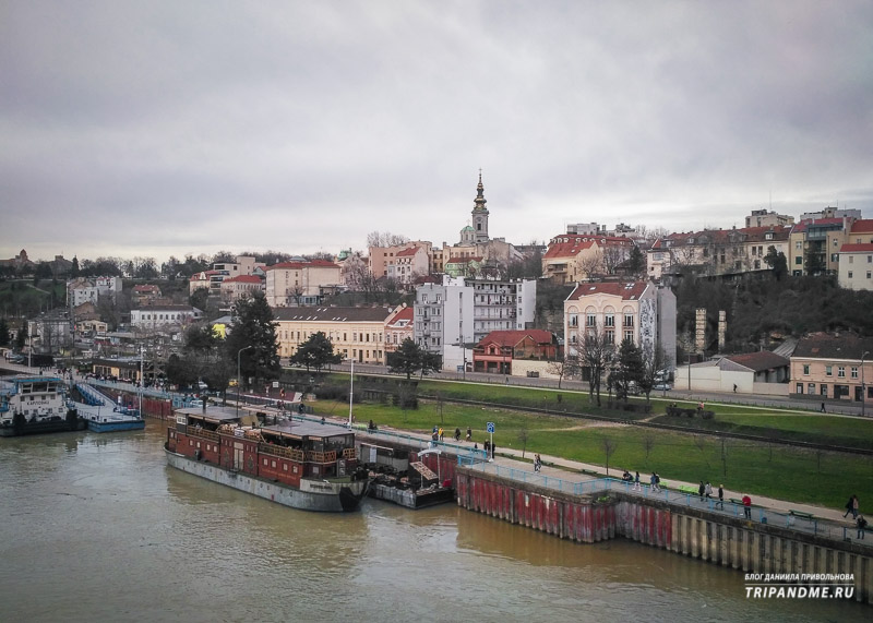 Дунай и вид на Старый Белград