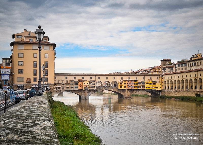 Знаменитый мост Понте Веккьо во Флоренции