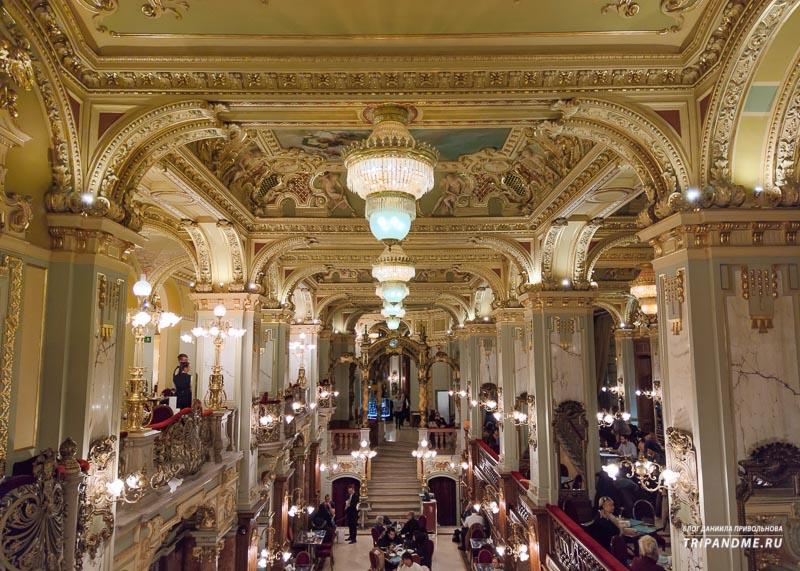 Самое красивое Будапештское кафе