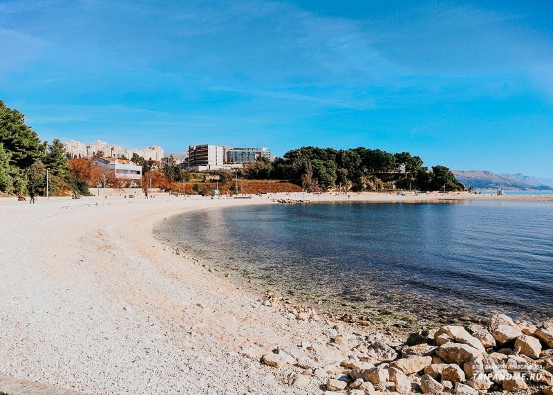 Фото пляжа Фируле в Сплите