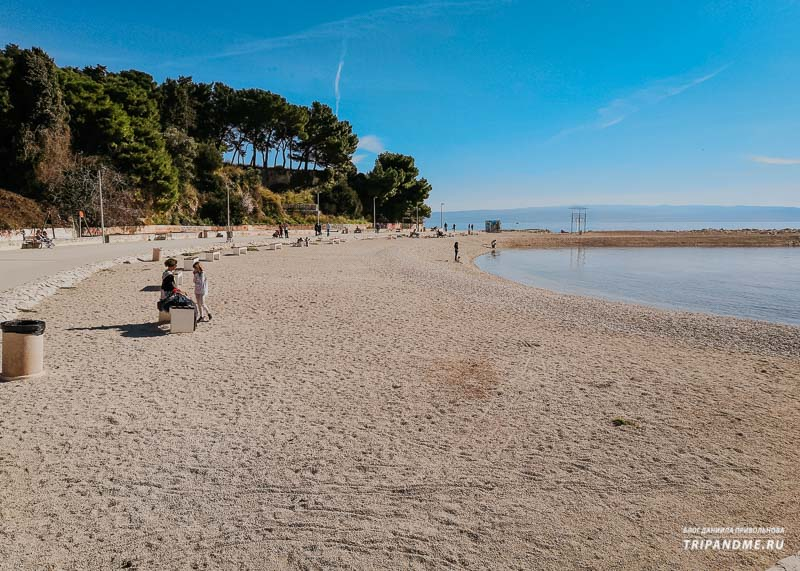 Фото пляжа Трстеник в Сплите