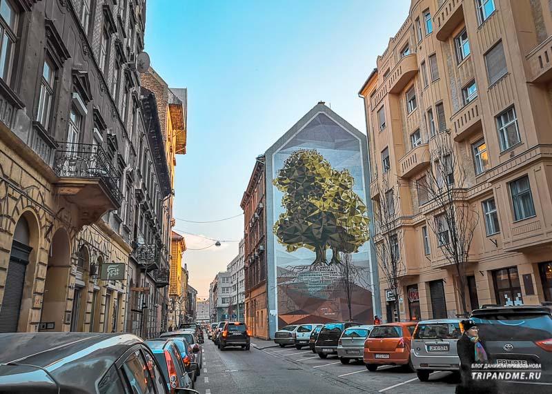 Улицы Еврейского квартала в Будапеште