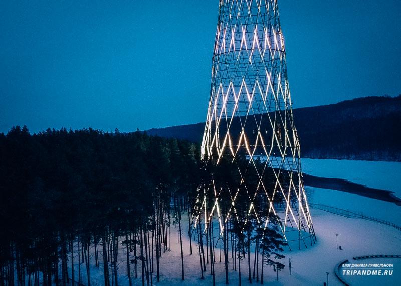 Я побывал у Шуховской башни зимой